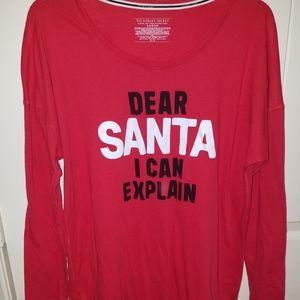 VICTORIAS SECRET Christmas sleep shirt size M